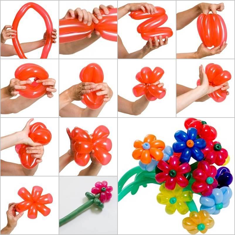 Как сделать букет воздушных шаров своими руками